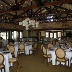 Arroyo Trabuco Ballroom - Paper lanterns over dance floor and indoor bistro lighting