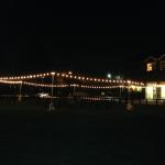 Newland Barn, Huntington Beach - perimeter bistro lighting on grass